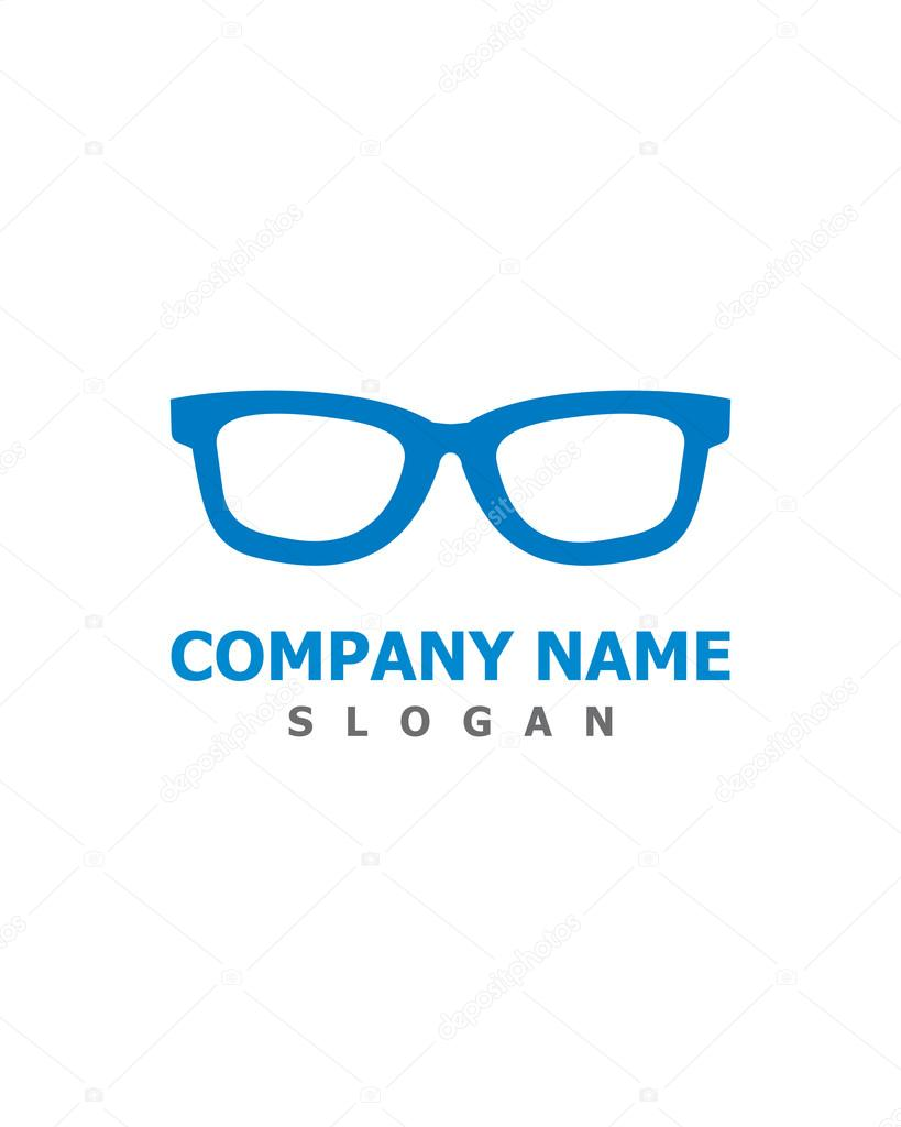 65e387566b44 Optometria okulary Logo — Grafika wektorowa © Pure Design  115059016