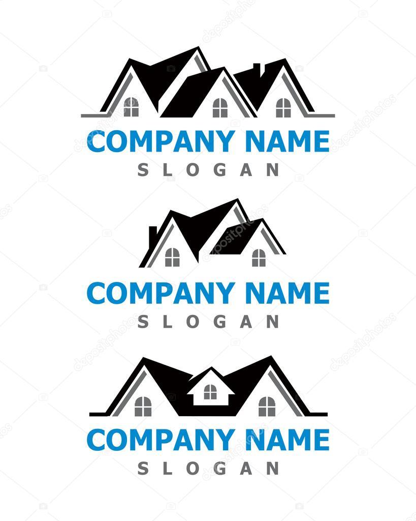 지붕 회사 로고 스톡 벡터 169 Pure Design 115059054