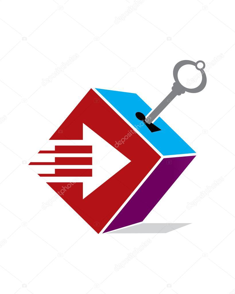 Storage Moving Logo U2014 Stock Vector