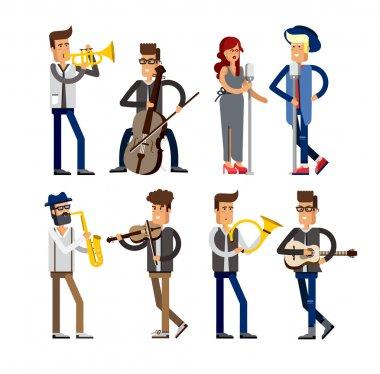 Musicians people Set
