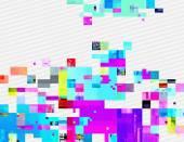 Színes glitched pixel