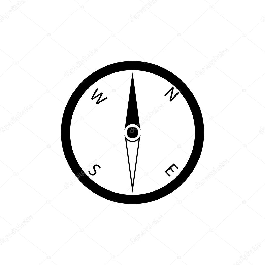 Pictograph Of Compass Icon Black Icon On White Background Stock