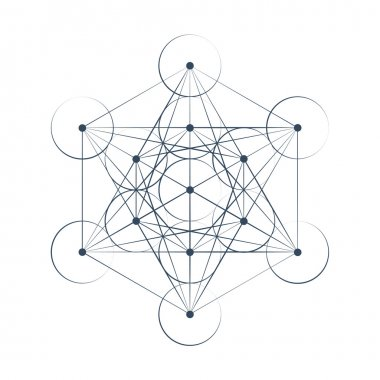 Metatrons Cube sacred geometry illustration