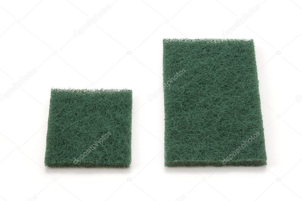 Esponja Para Lavar Platos En Fondo Blanco