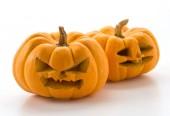 Halloween dýně na bílém pozadí