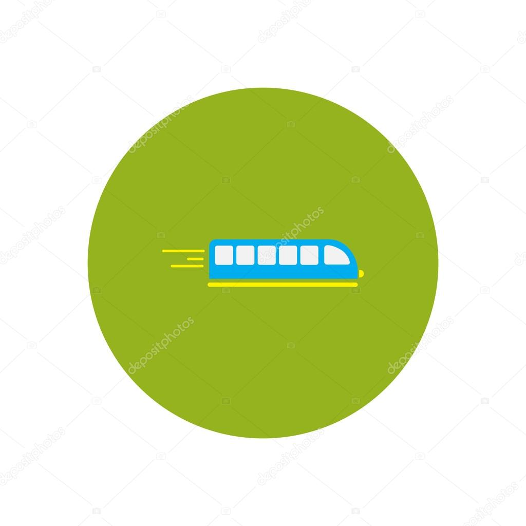 stylish icon in color circle high-speed train — Stock Vector ...