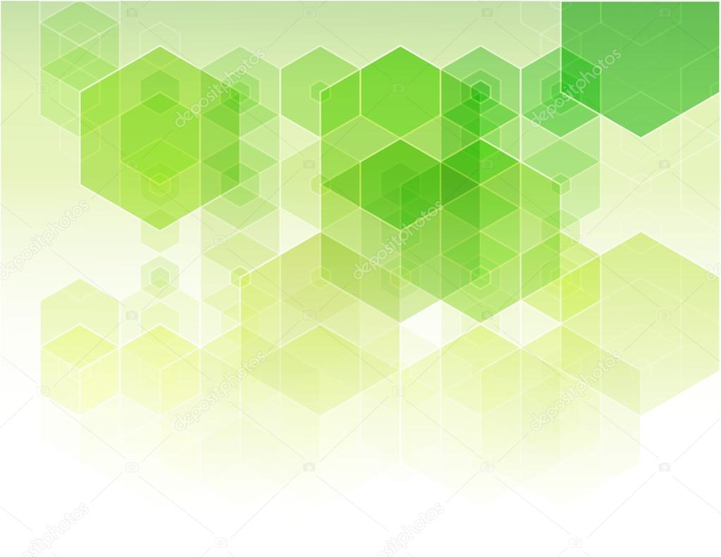 Abstract Green Background Design Brochure Vector Background