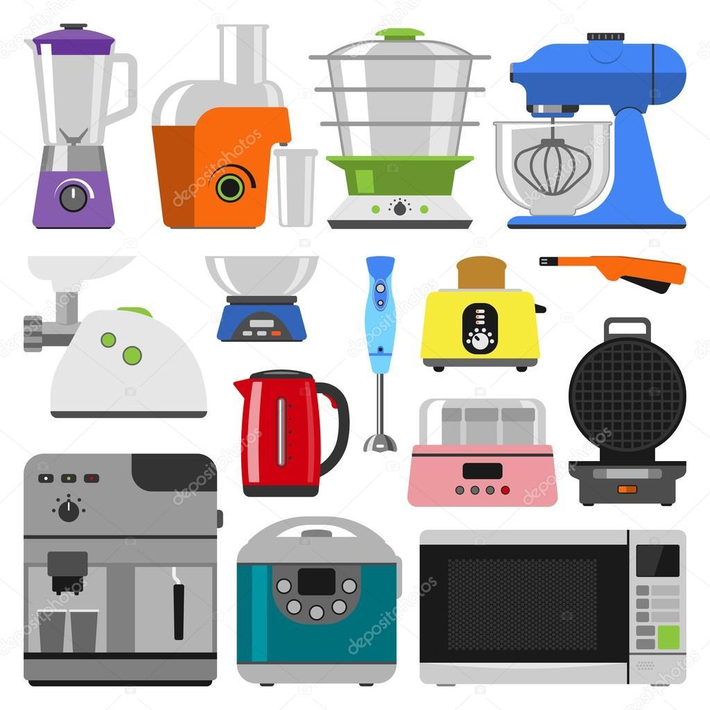 kitchen appliances vector — Stock Vector © VectorShow #119504824