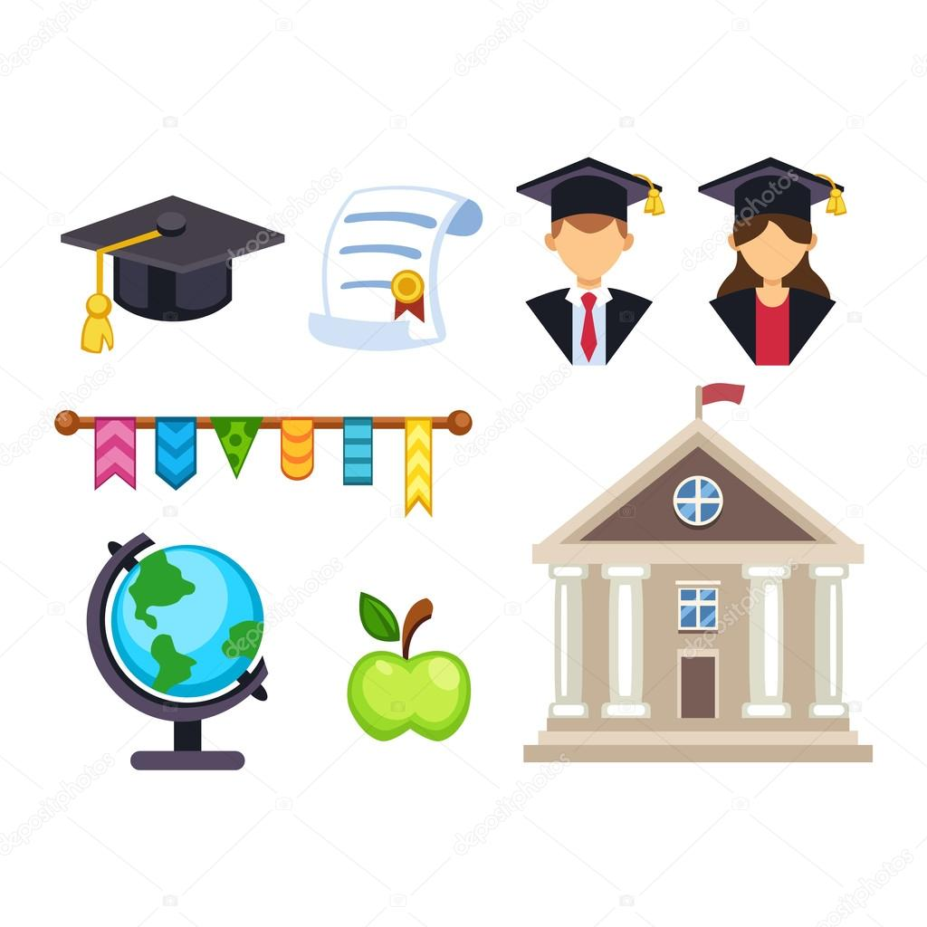 Graduation Education Vector Symbols Stock Vector Vectorshow
