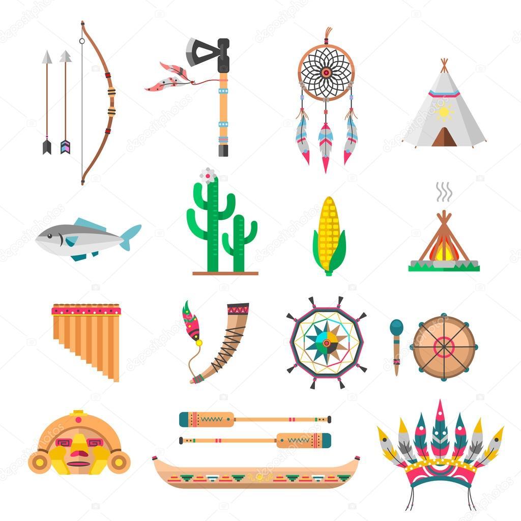 Symbole Indianer