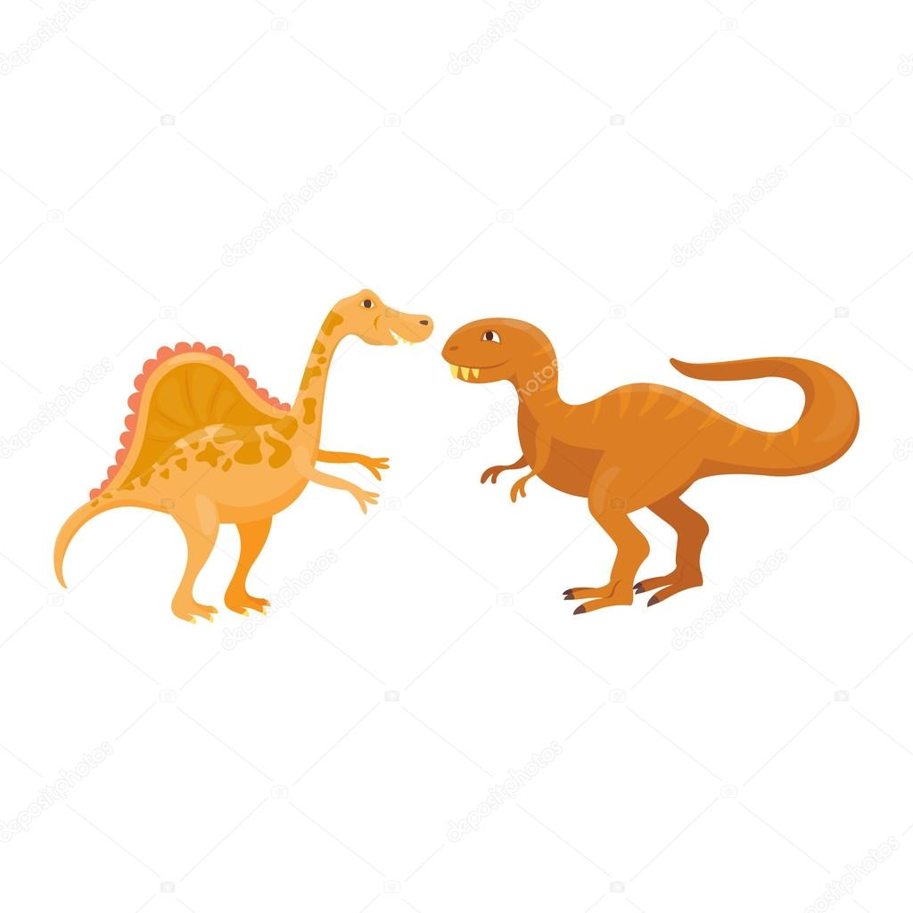 Cartoon-Dinosaurier-Vektor-illustration — Stockvektor © VectorShow ...