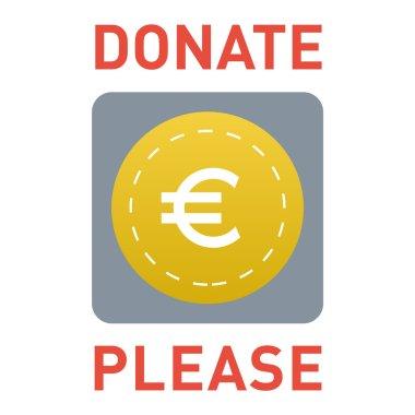 Donate button vector icon