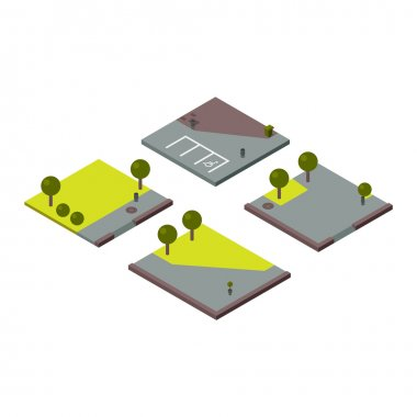 illustration of isometric land section