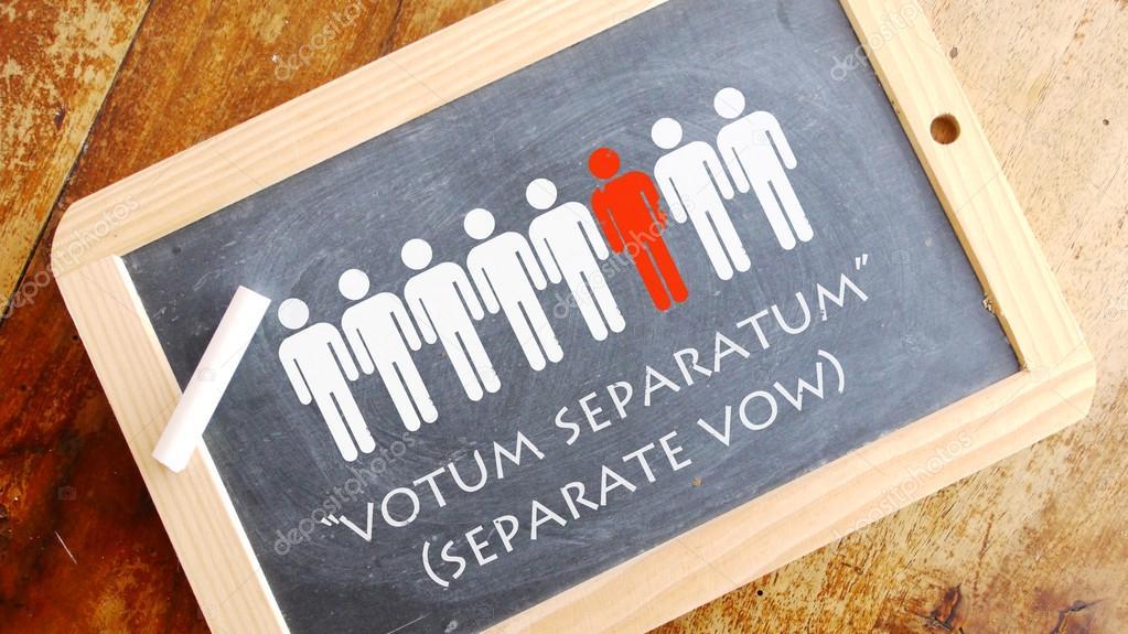 Votum Separatum Una Frase En Latín Fotos De Stock