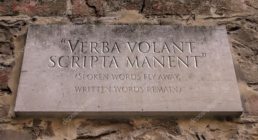 libri & viaggi --- Recensione libri -  Depositphotos_120496254-stock-photo-verba-volant-scripta-manent-latin