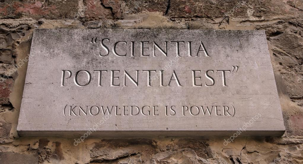 Knowledge Is Power In Latin