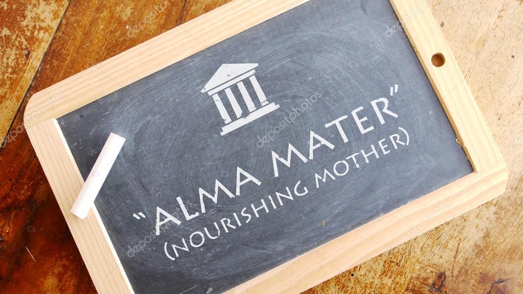 Alma Mater Frase Latina Foto De Stock Zapomicron