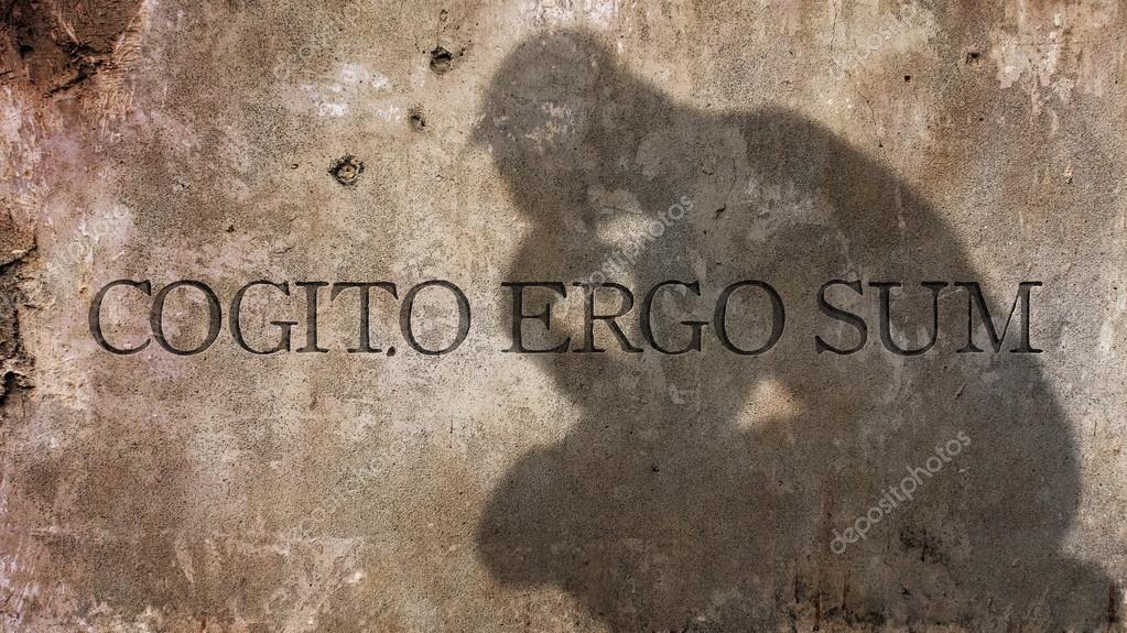 cogito ergo sum  Cogito ergo sum — Foto Stock © zapomicron #123206586