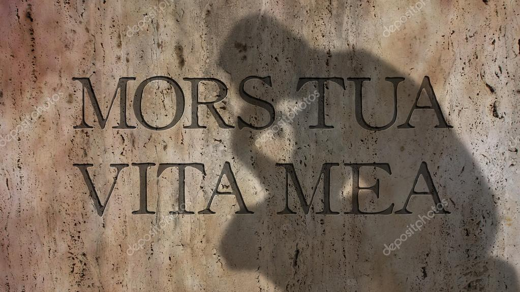 Mors Tua Vita Mea латинская фраза стоковое фото