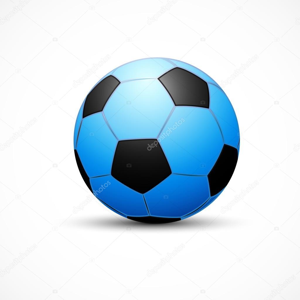 2fb1d407a3fdc Ballon de foot bleu — Image vectorielle ViktorChursin © #114760912