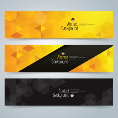 banner design with geometric pattern