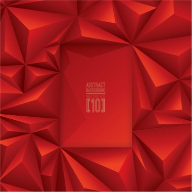 red polygonal texture