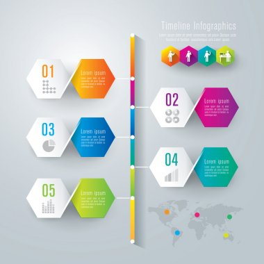 Business infographic of vertical progress