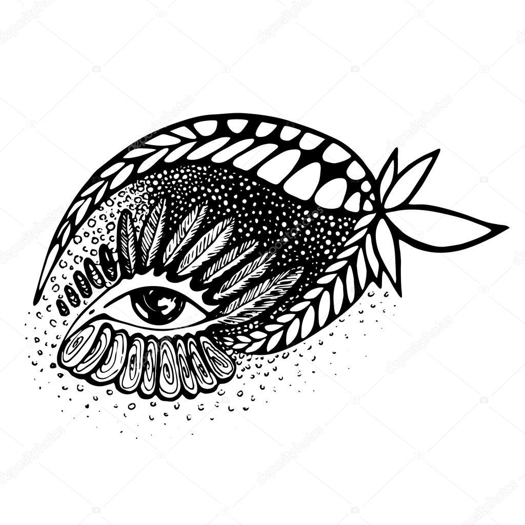 Vector Abstract Drawing Of Eye Stock Vector C Olserg