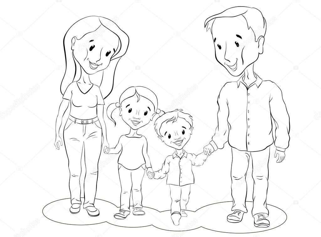 Imágenes Padre E Hija Para Colorear Mamá Papá Hijo E Hija Ir Y