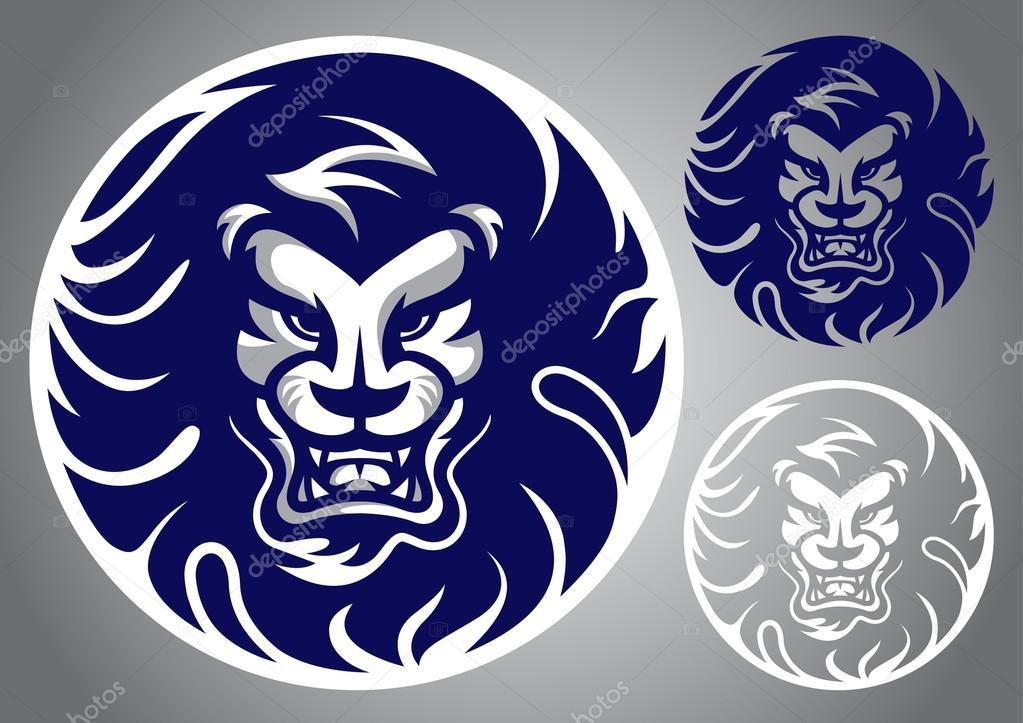 Vector Emblema Logotipo Azul De La Cabeza