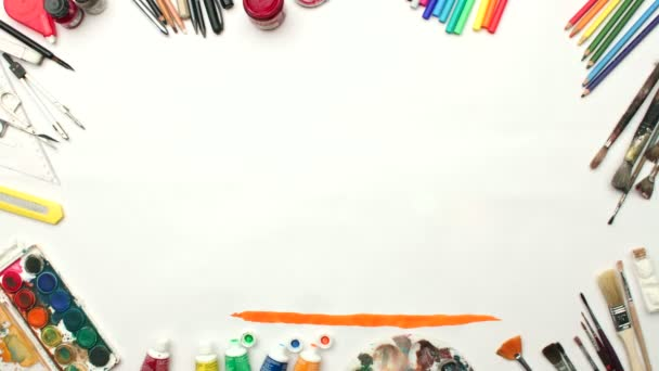 Artistic border painting with art tools