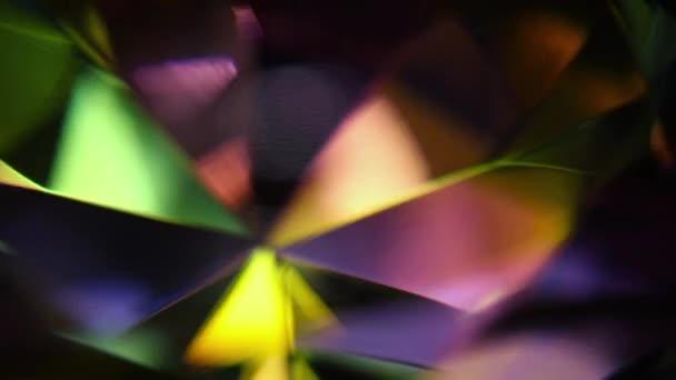 Rotating Diamond Prism Macro Motion Background