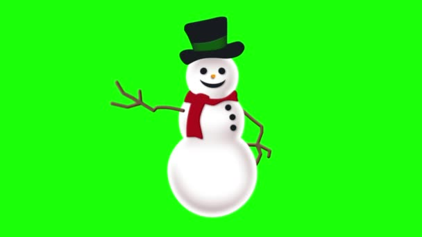 Snowman on green screen