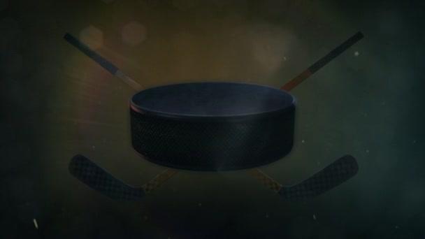 Hokejový puk v epické osvětlení