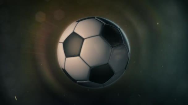 Fotbalový míč v epické osvětlení
