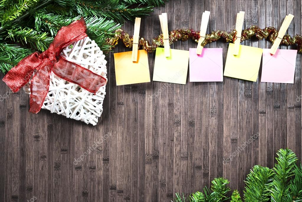 Assi Di Legno Decorate : Decorazioni di natale su assi di legno u2014 foto stock © f dinatale