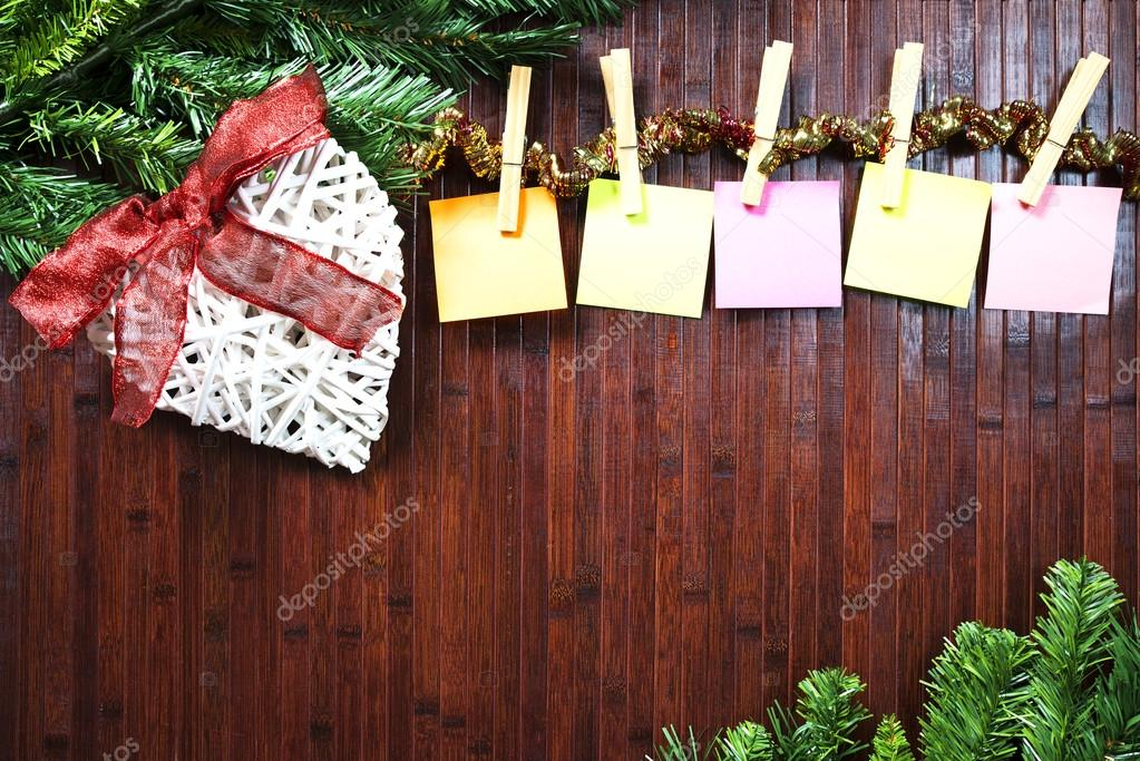 Assi Di Legno Decorate : Decorazioni di natale su assi di legno u foto stock f dinatale