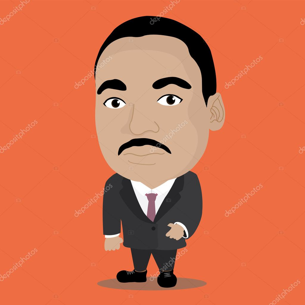 Character of Martin Luther King — Stock Vector © 3pstudio #115484488