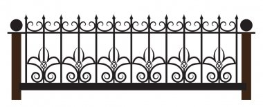 Vector iron fence