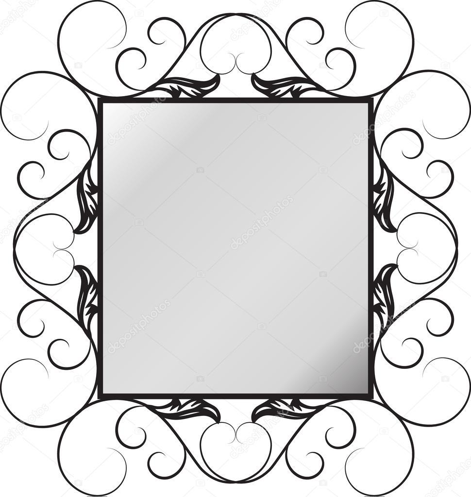 marco espejo de forja — Vector de stock © pvl0707 #122875854