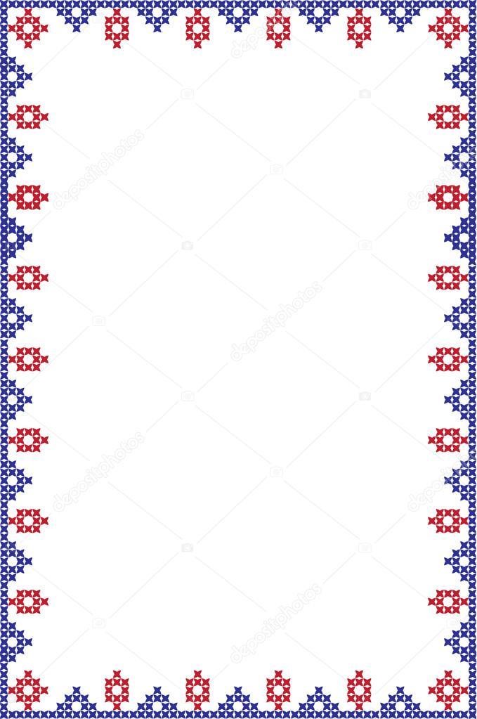 bastidor bordado de vector — Archivo Imágenes Vectoriales © pvl0707 ...