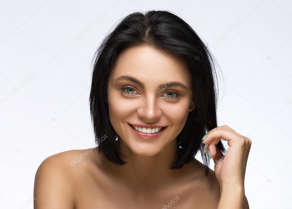 Fashion Haircut Hairstyle Stylish Fringe Teenage Girl With Short
