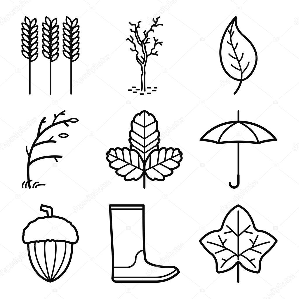 Circuito Vascular : Icono símbolo otoño u2014 vector de stock © sergey shut #122278884