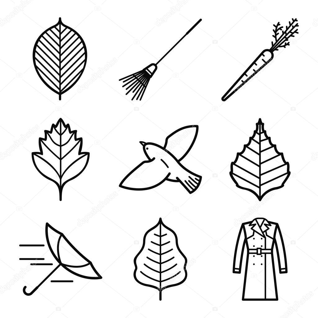 Circuito Vascular : Icono símbolo otoño u2014 archivo imágenes vectoriales © sergey shut