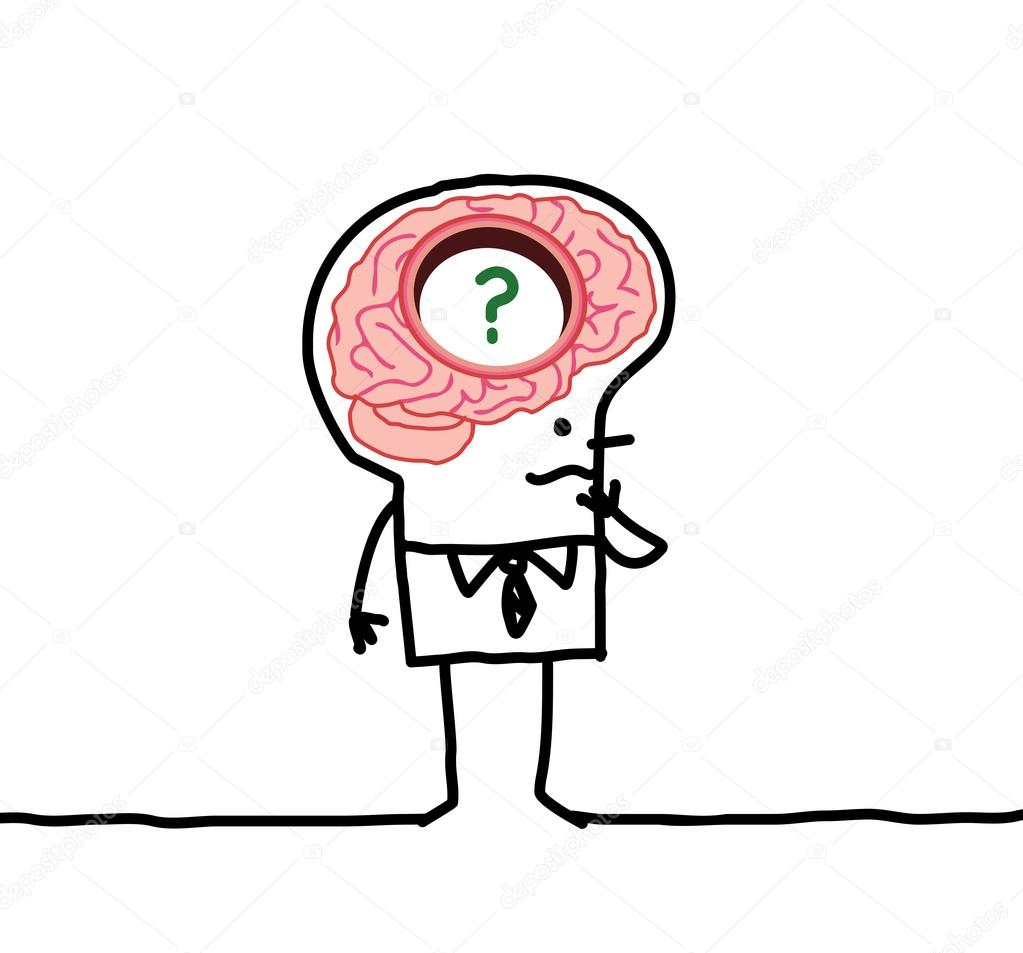 großes Gehirn Mann & Speicher desorders — Stockfoto © NLshop #117005880