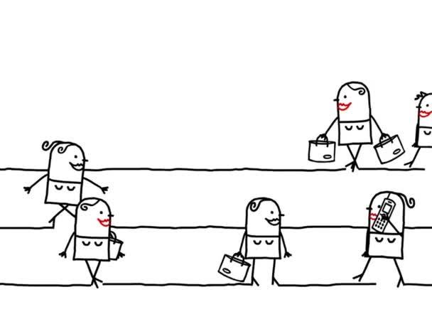animovaný film ženy špičce doba chůze