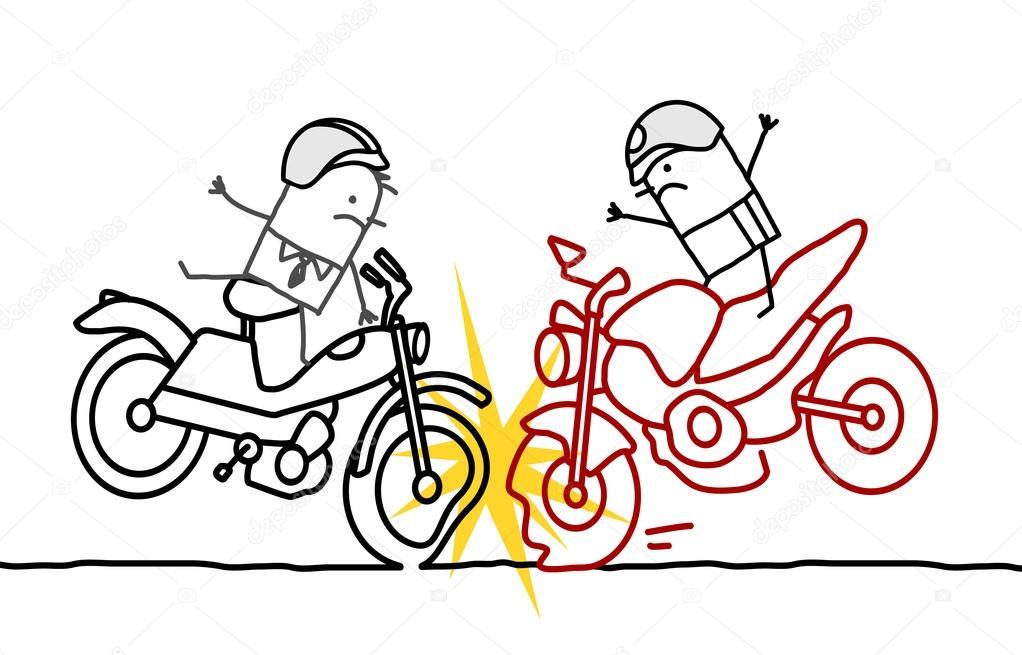 Accident de moto de dessin anim photographie nlshop 117010154 - Coloriage cars accident ...