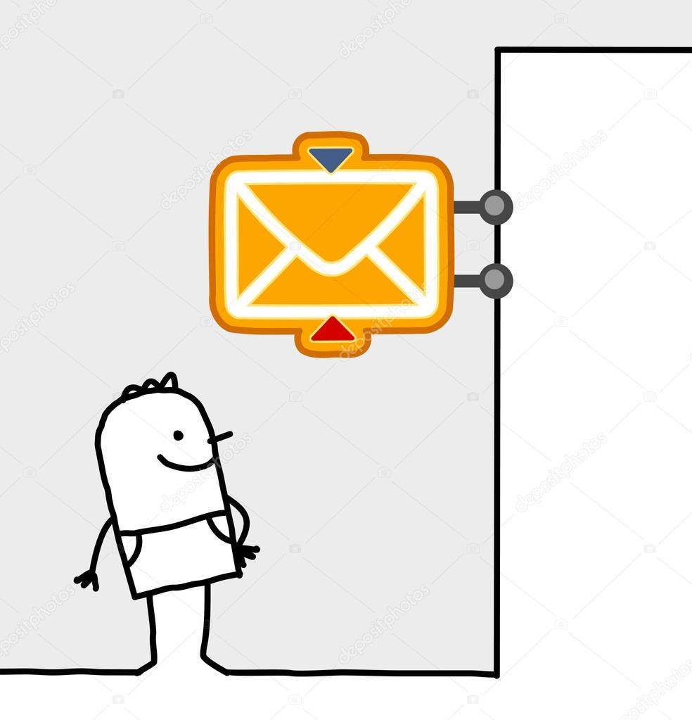 Man Post Office Sign Stock Photo Nlshop 117015698