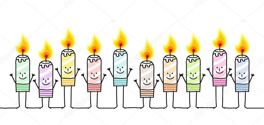 Zehn Farben Kerzen — Stockfoto © NLshop #117035378