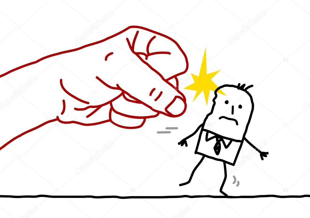Imágenes Animadas De Violencia Para Colorear Gran Empresario Mano